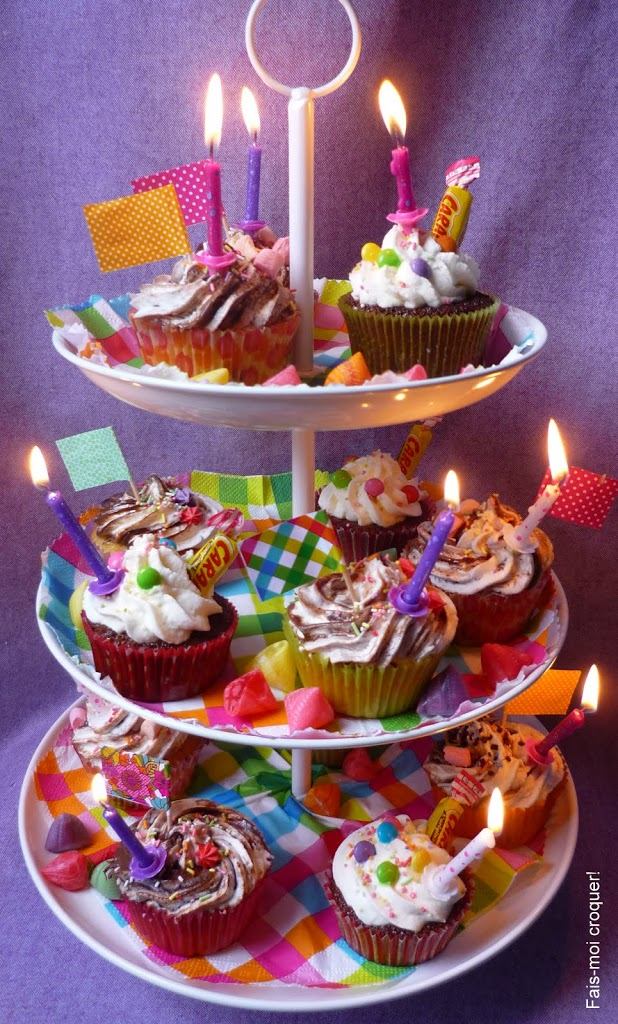 Cupcake de go ter d 39 anniversaire fais moi croquer - Decoration cupcake anniversaire ...