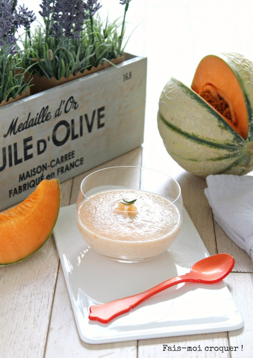 Mousse de melon vegan