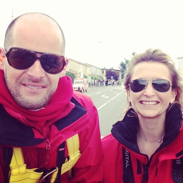 Thibault et Bénédicte sur la route du Tour de France