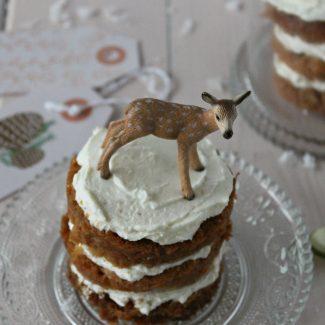 Layer cake individuel au potiron et épices pour Noël