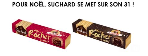 Rocher Suchard au chocolat au lait et au chocolat noir