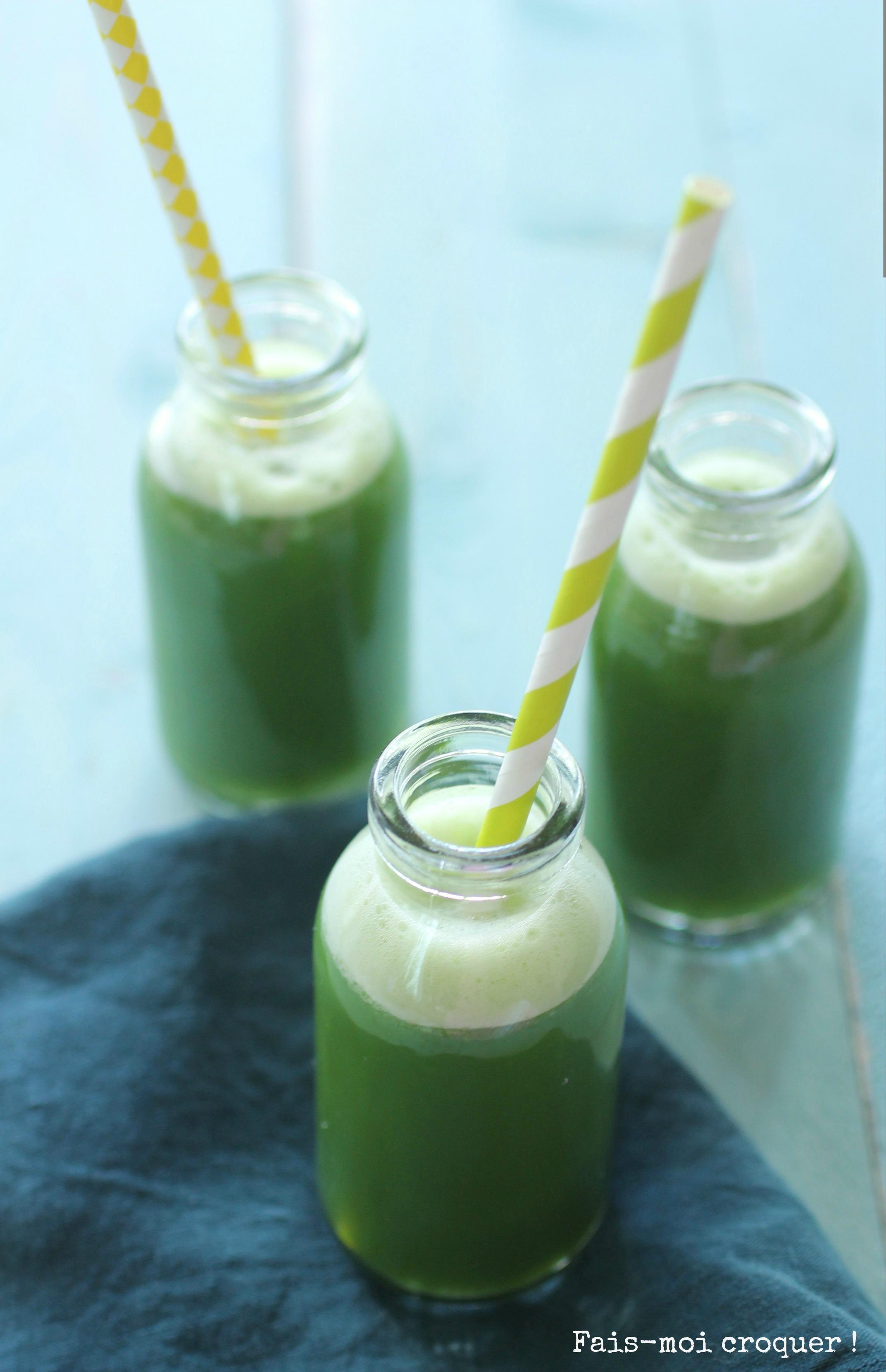 Greensmoothie fenouil, pomme, concombre et épinard {La