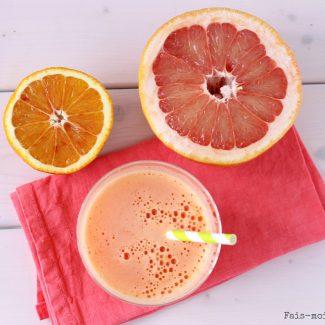Un jus détox et vitaminé à l'orange, pamplemousse, carotte et gingembre