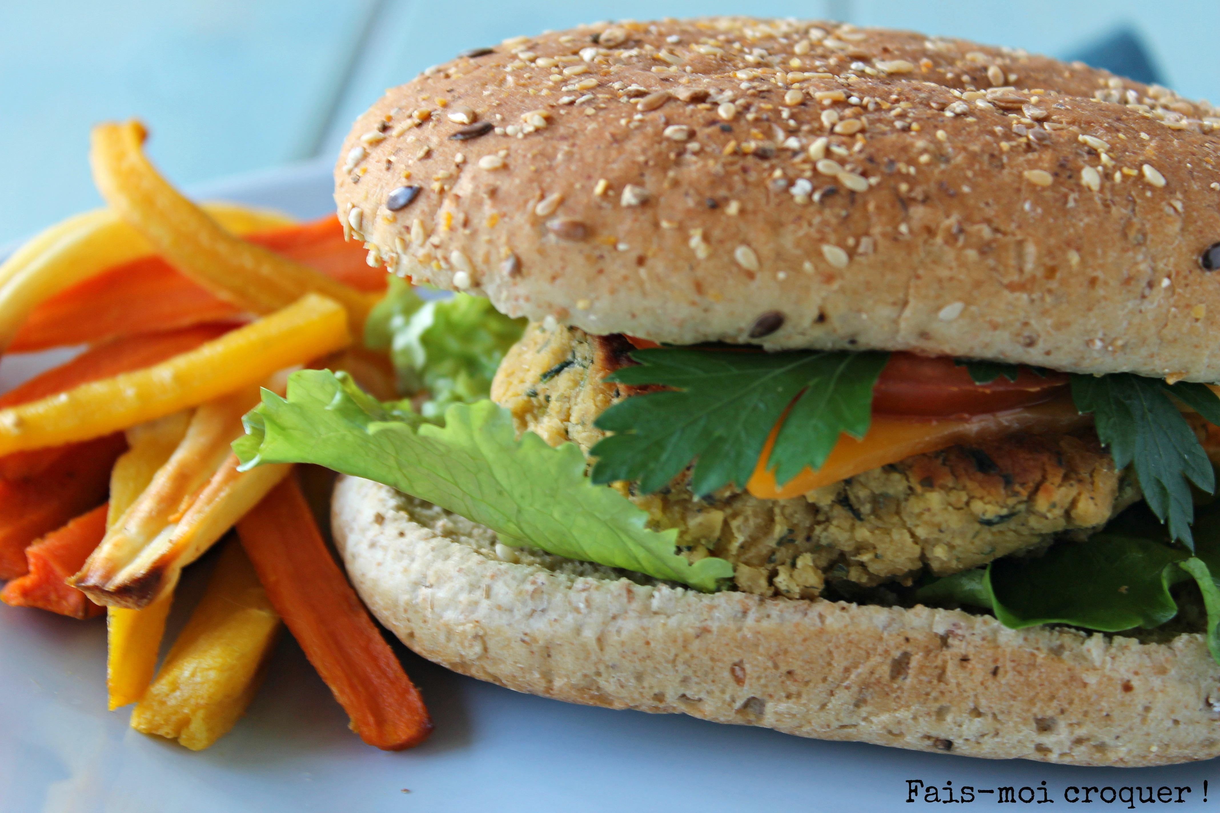 Veggie Burger et frites de légumes pour la bataille food #21