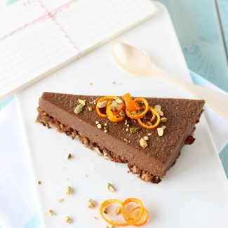 No cheesecake cru chocolat orange