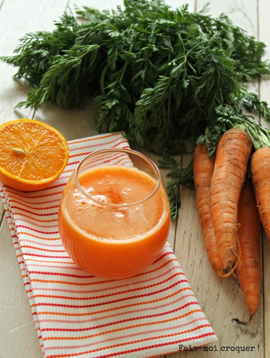 Greensmoothie pomme carotte orange