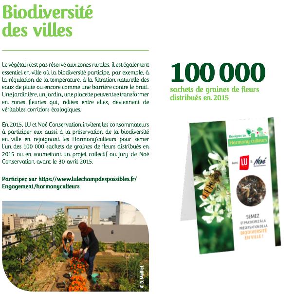 jeu concours biodiversité LU'HARMONU Semaine du développement durable
