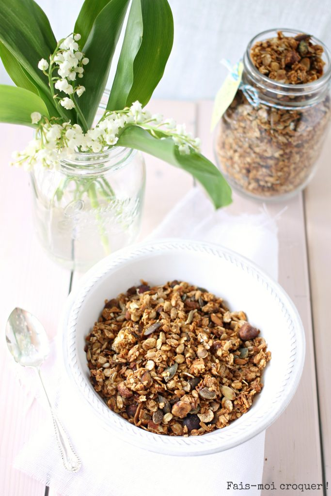 Granola healthy compote de pomme et noix de coco