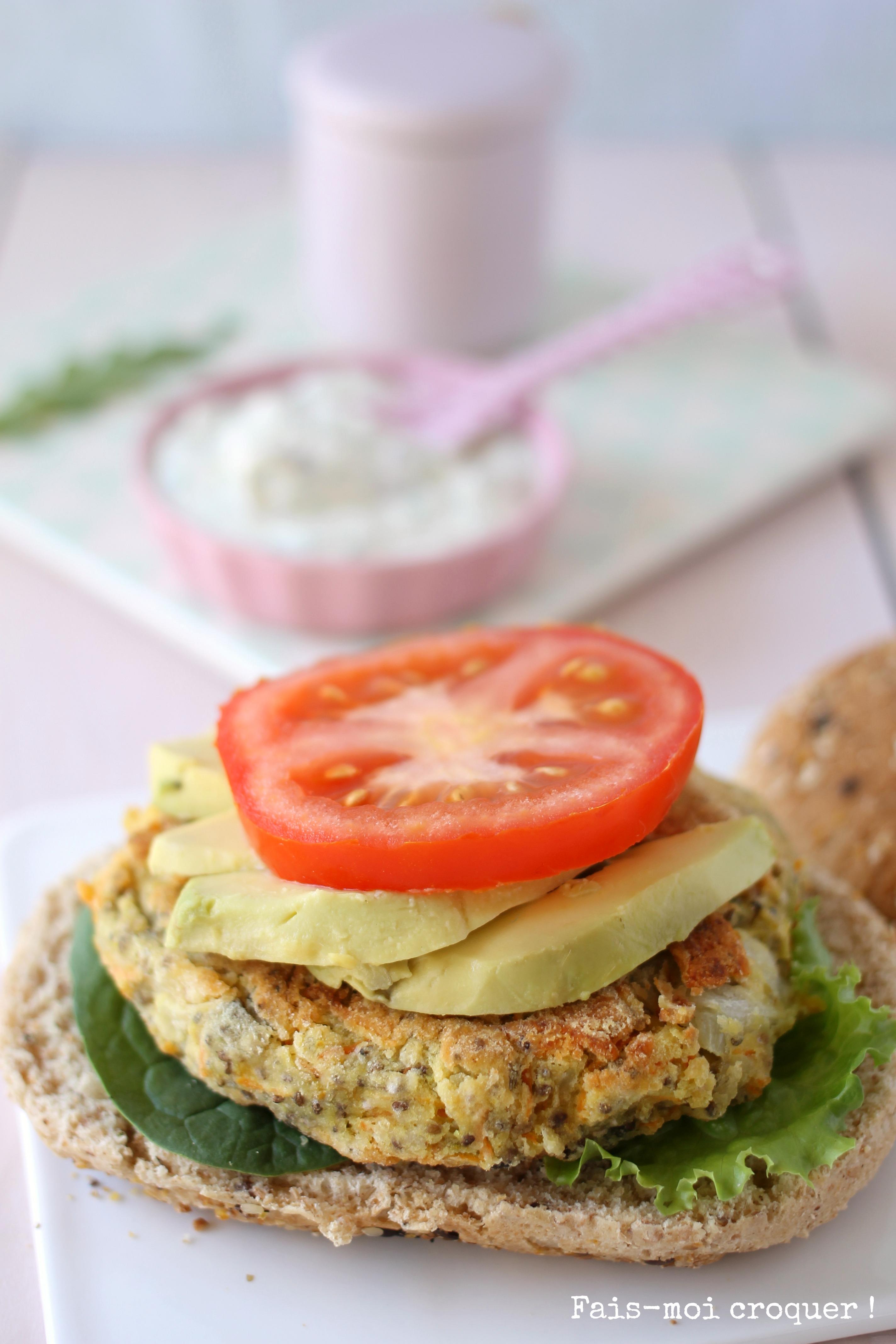 Veggie Burger d'Estelle Lefébure Méthoe Orahe
