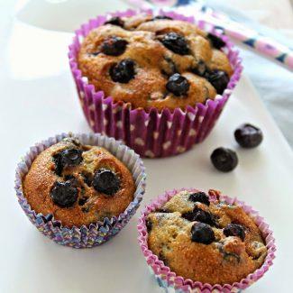 Muffin végétarien aux myrtilles