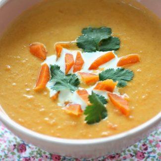 soupe carotte coco coriandre