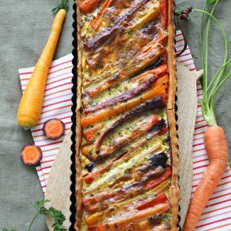 Tarte aux carottes, orange et cumin