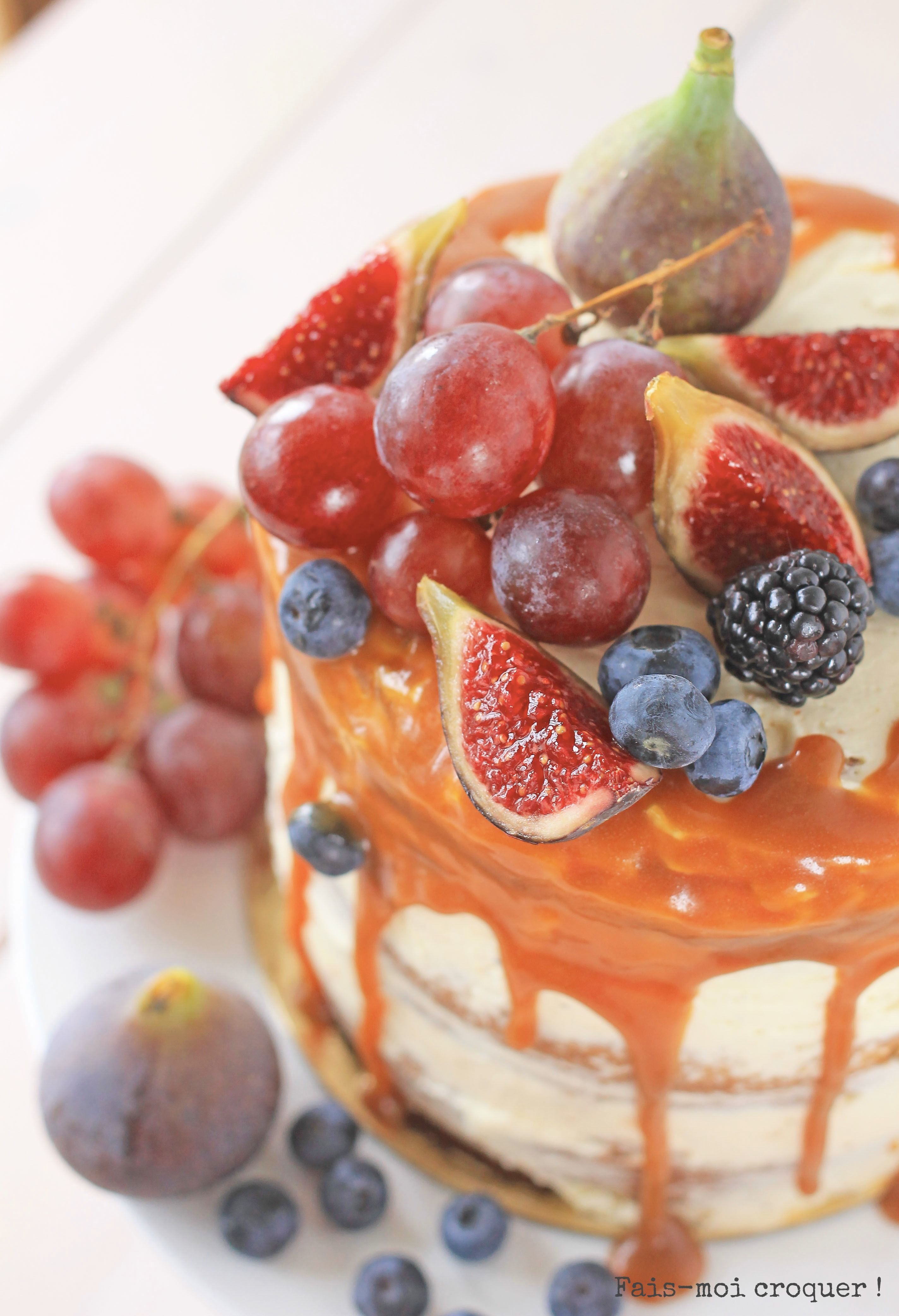 Naked cake figues tonka