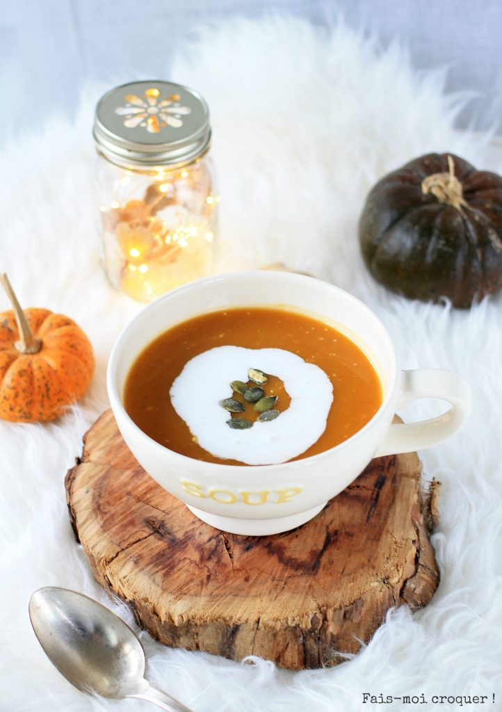 Butternet coco ginger soup