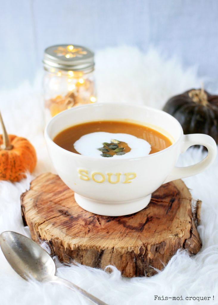 Soupe butternut coco gingembre