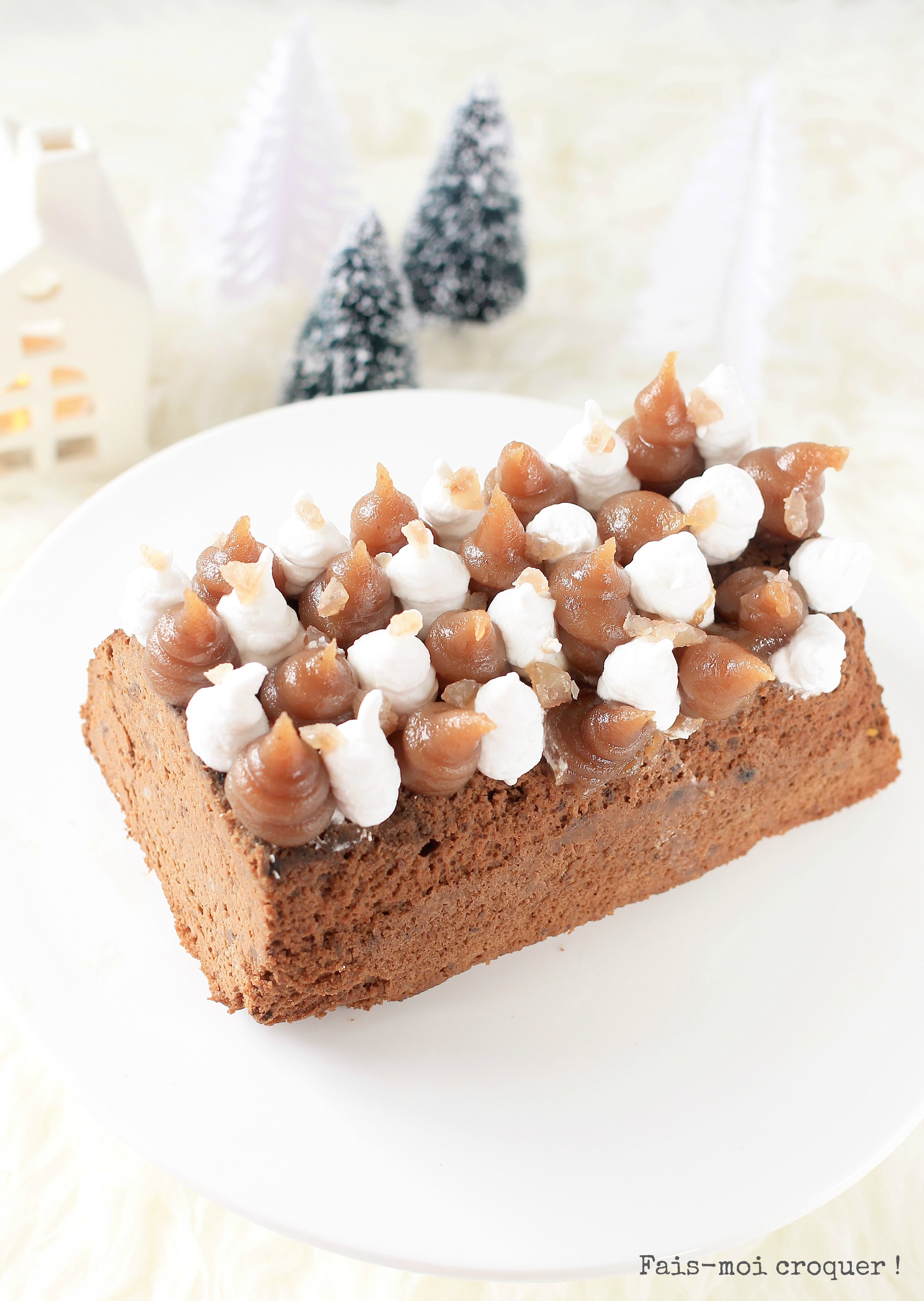 bûche chocolat marron sans gluten vegan