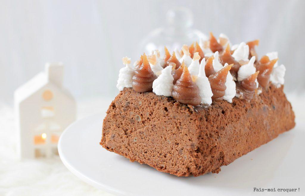 bûche chocolat marron vegan sans gluten