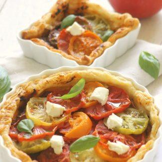 tarte tomates chèvre basilic