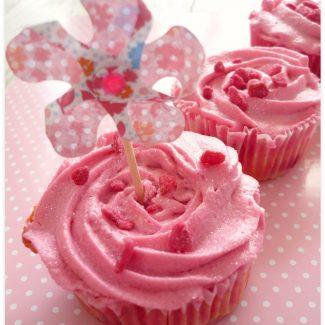 Cupcake coeur de chewing gum