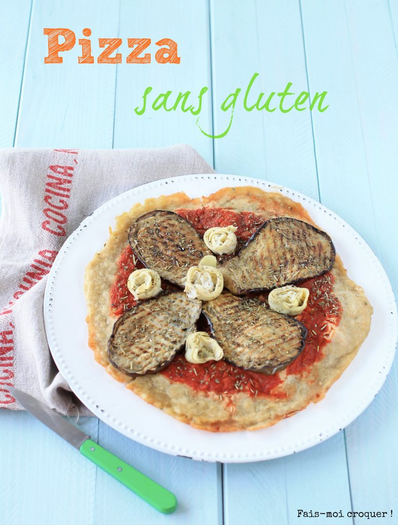 Pizza artichaut sans gluten