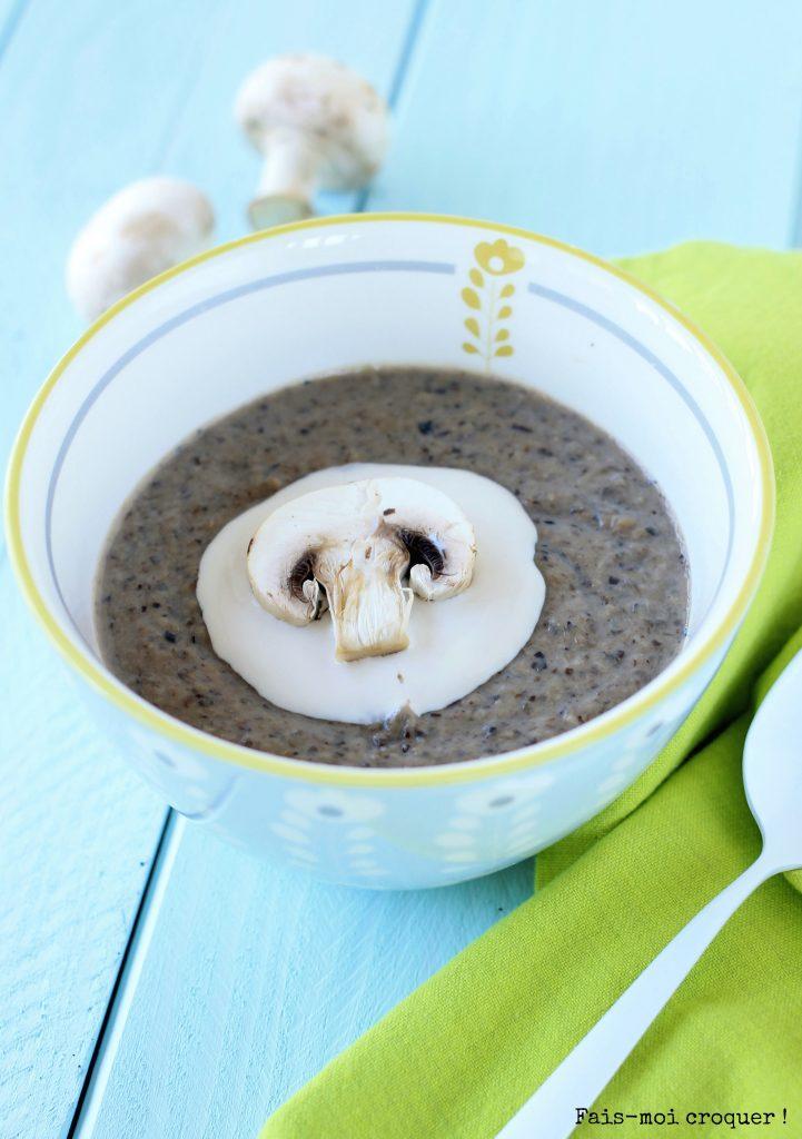 Soupe chataigne champignon Bjorg