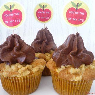 cupcake apple on my eyes