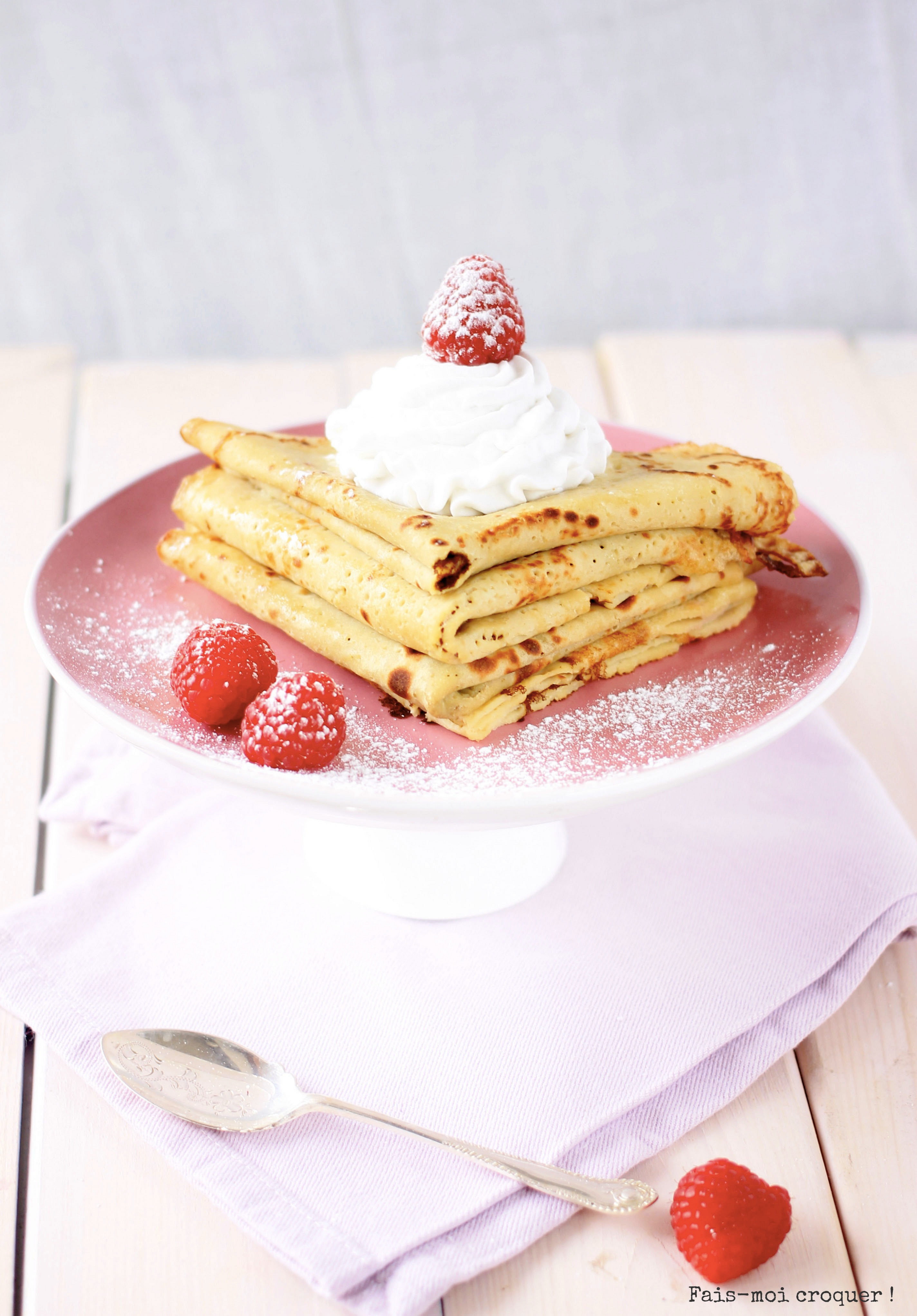 Garniture crêpe chantilly vegan