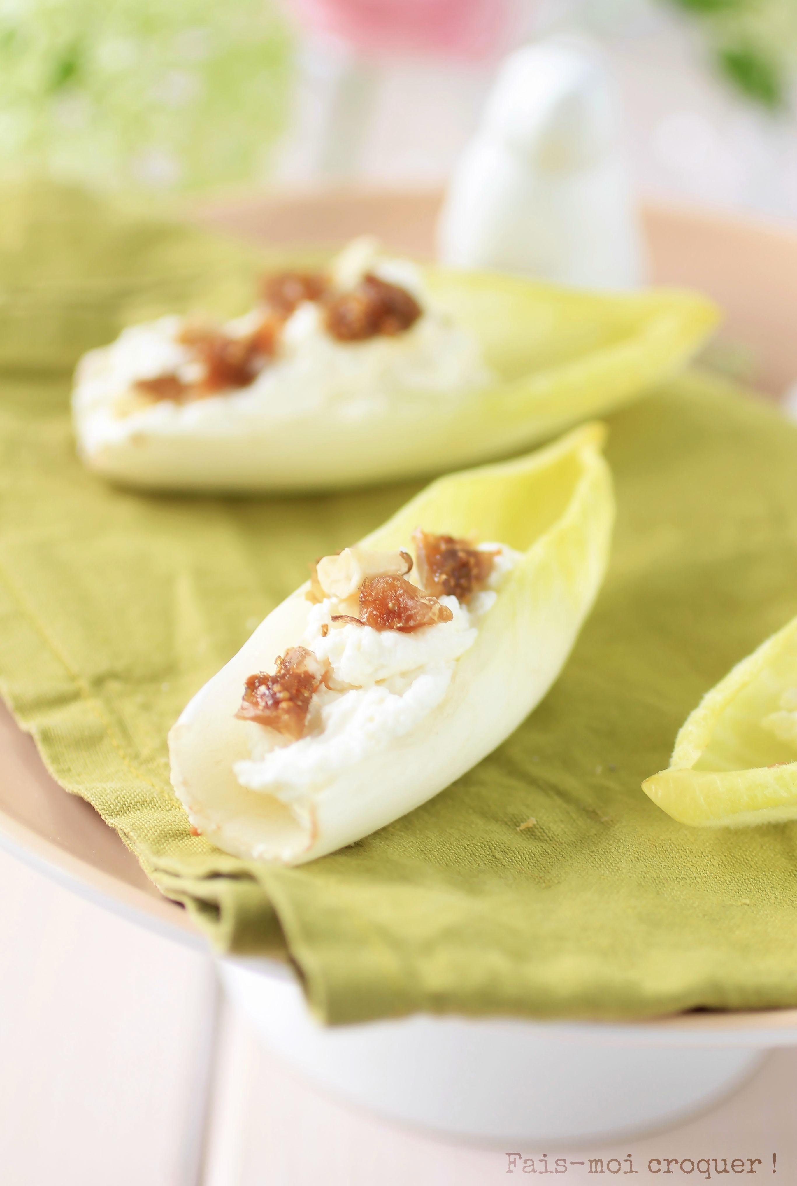 barquette endives figues et noix