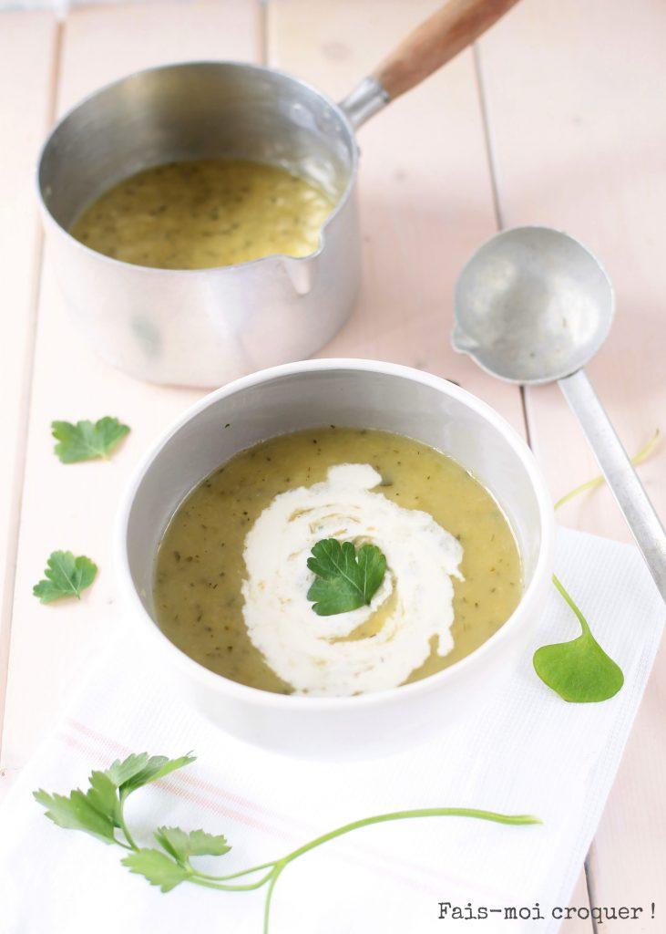 soupe poireaux courgette