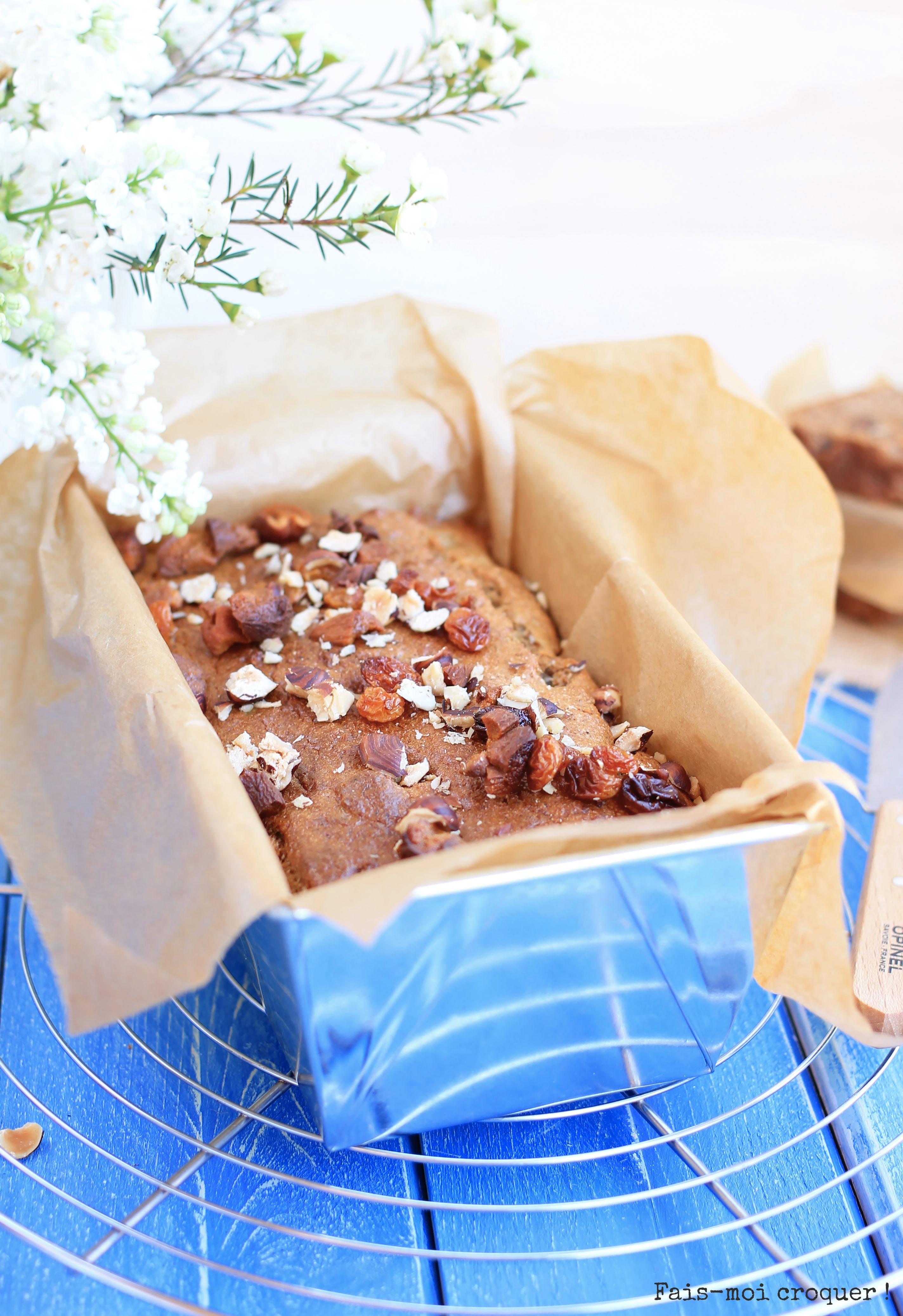 cake aux fruits secs sans sucre ajouté
