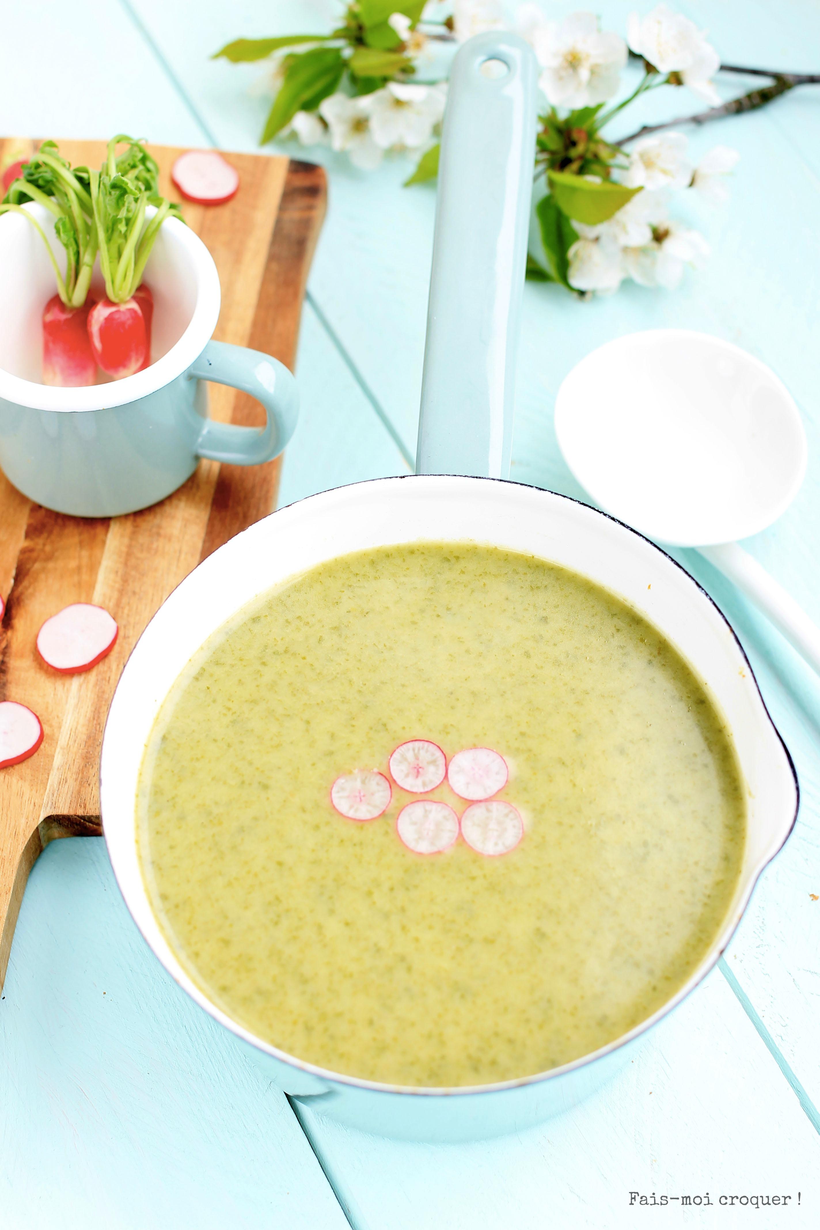 soupe de fanes radis