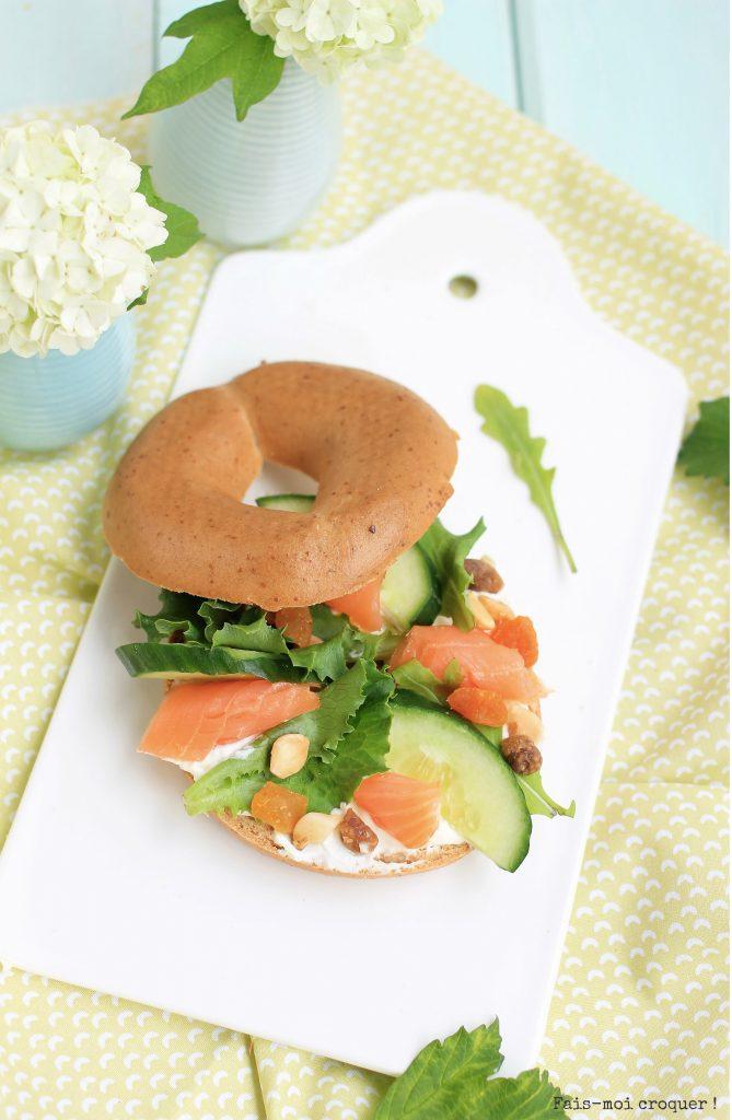 Bagel saumon abricot