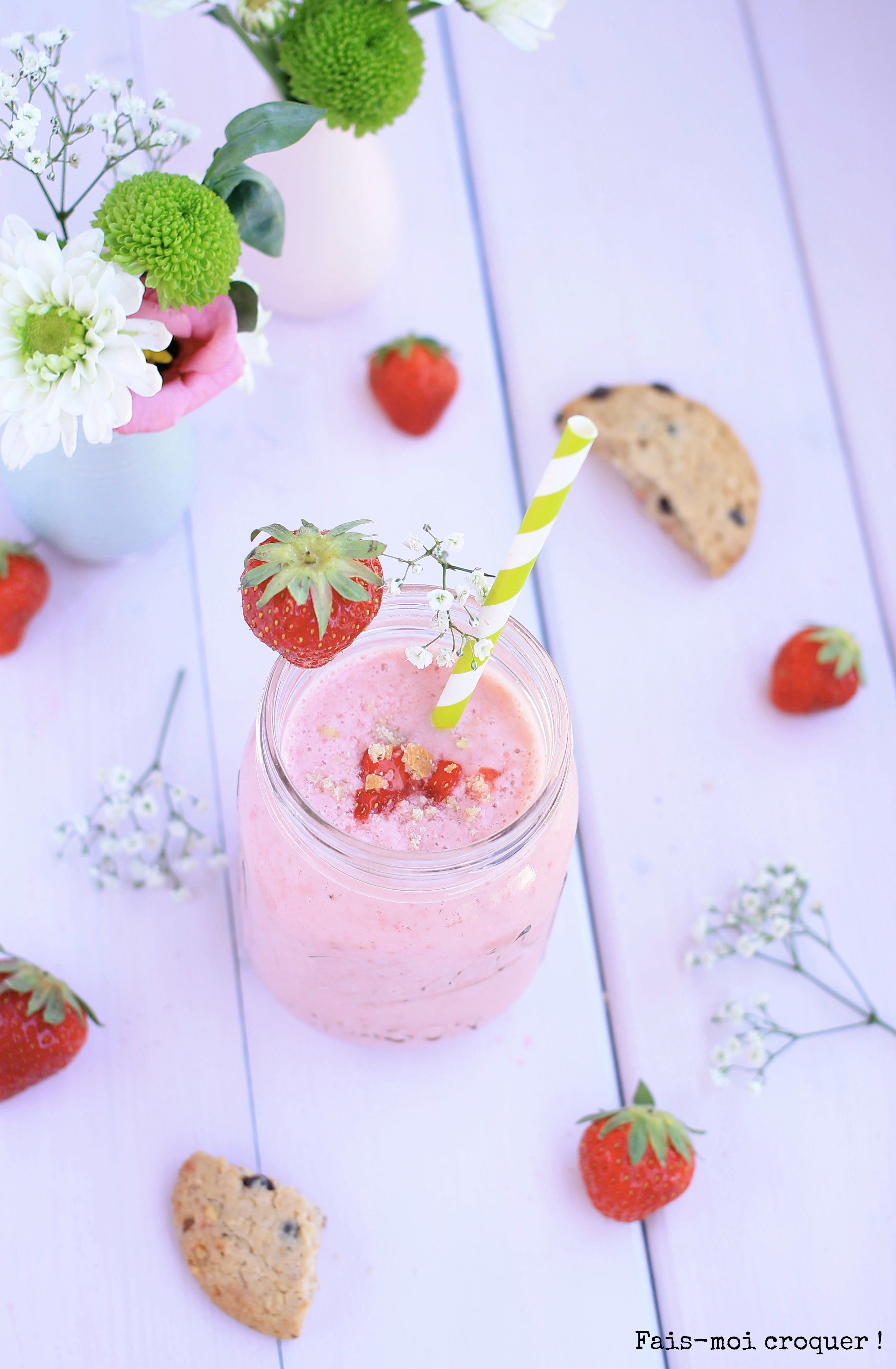 milkshake vegan fraise