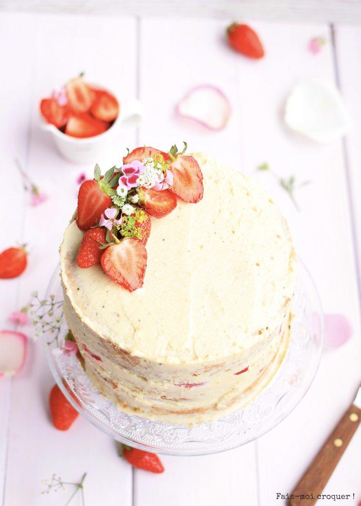 Naked cake fraise