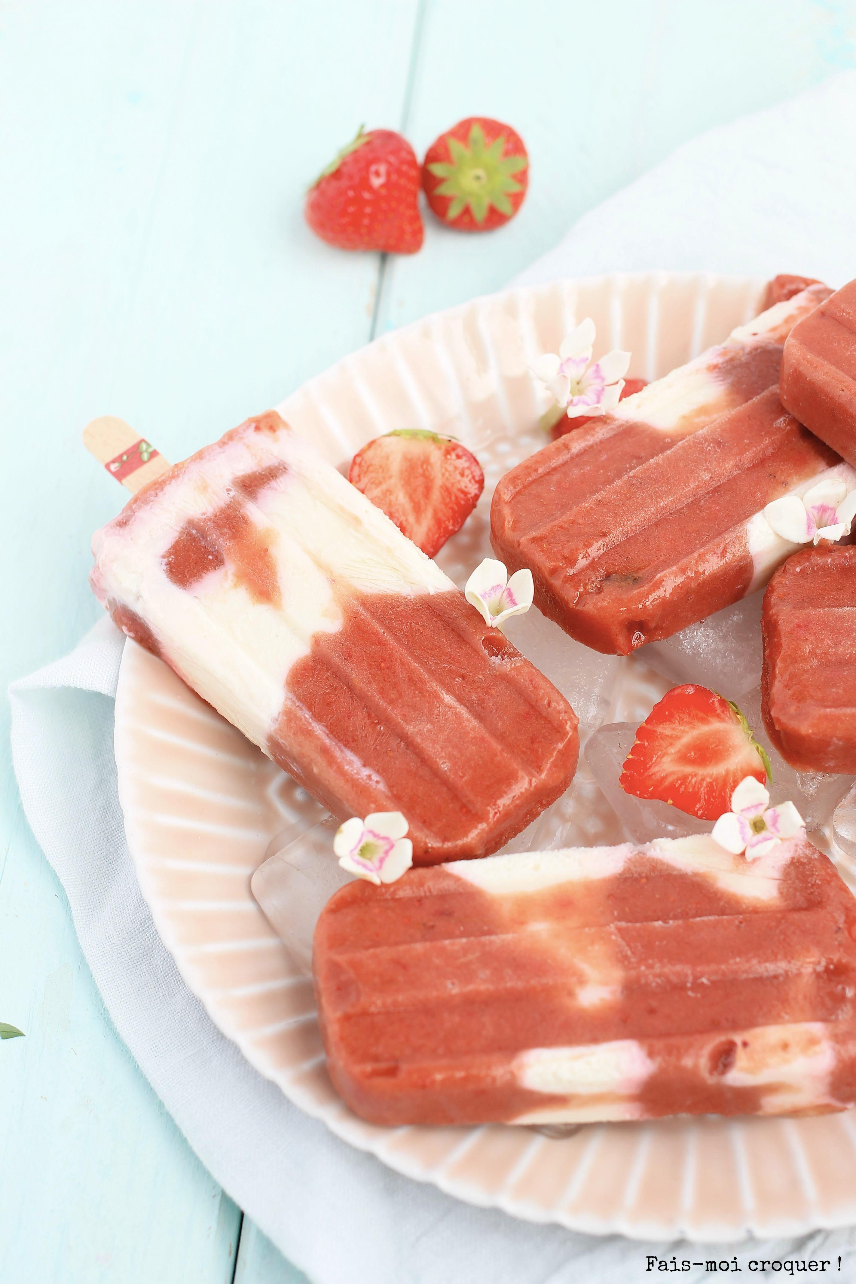 popsicles rhubarbe fraise