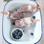 Popsicle myrtille vegan