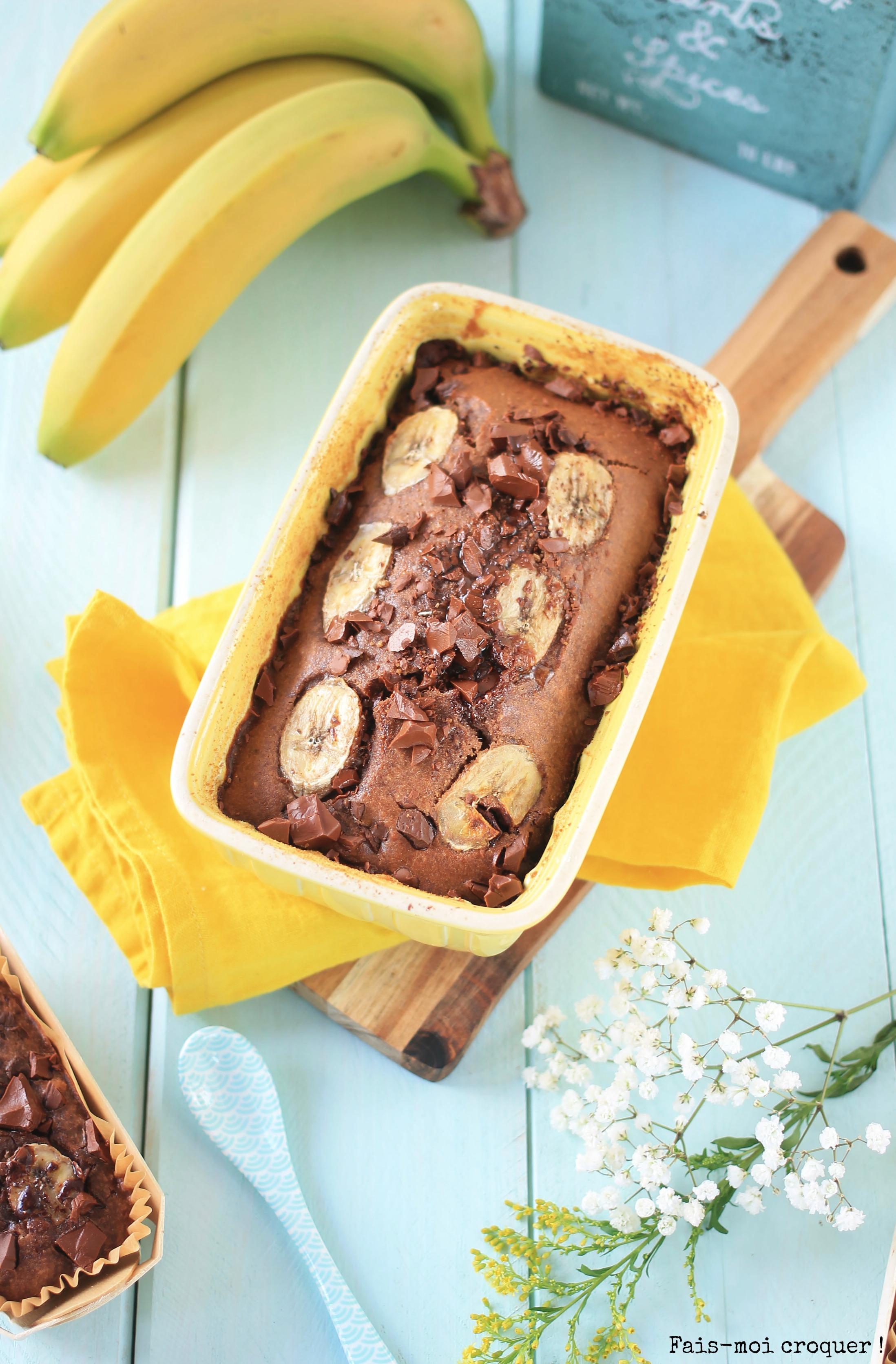 banana bread double chocolate