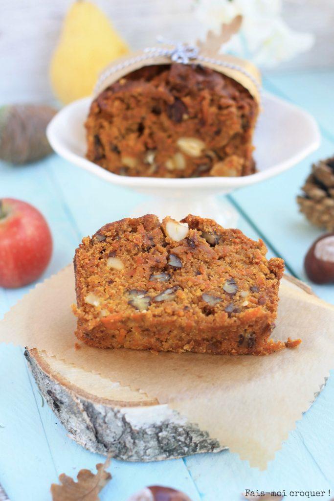 carrot cake sans beurre et sans gluten