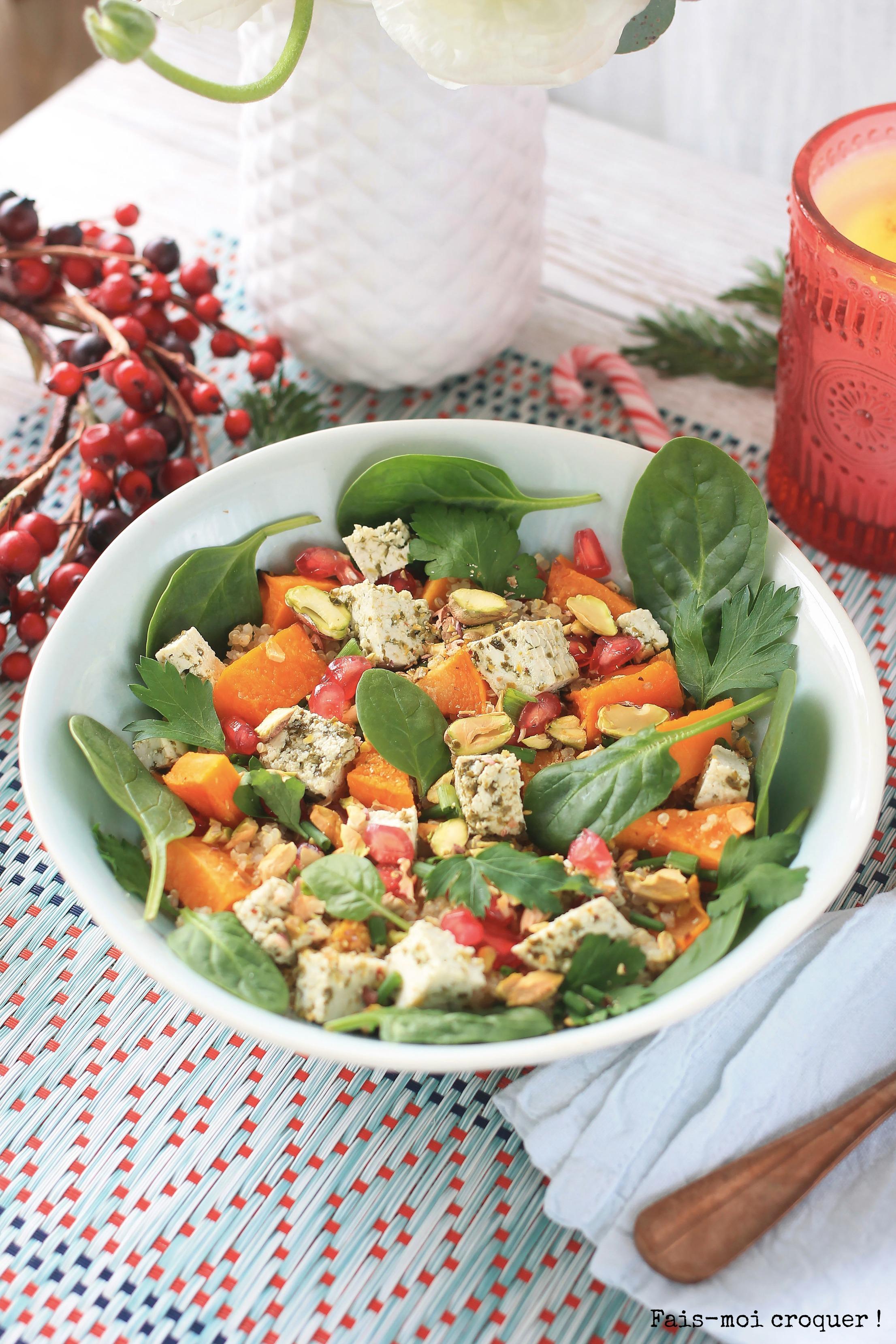 salade de quinoa pistache tofu