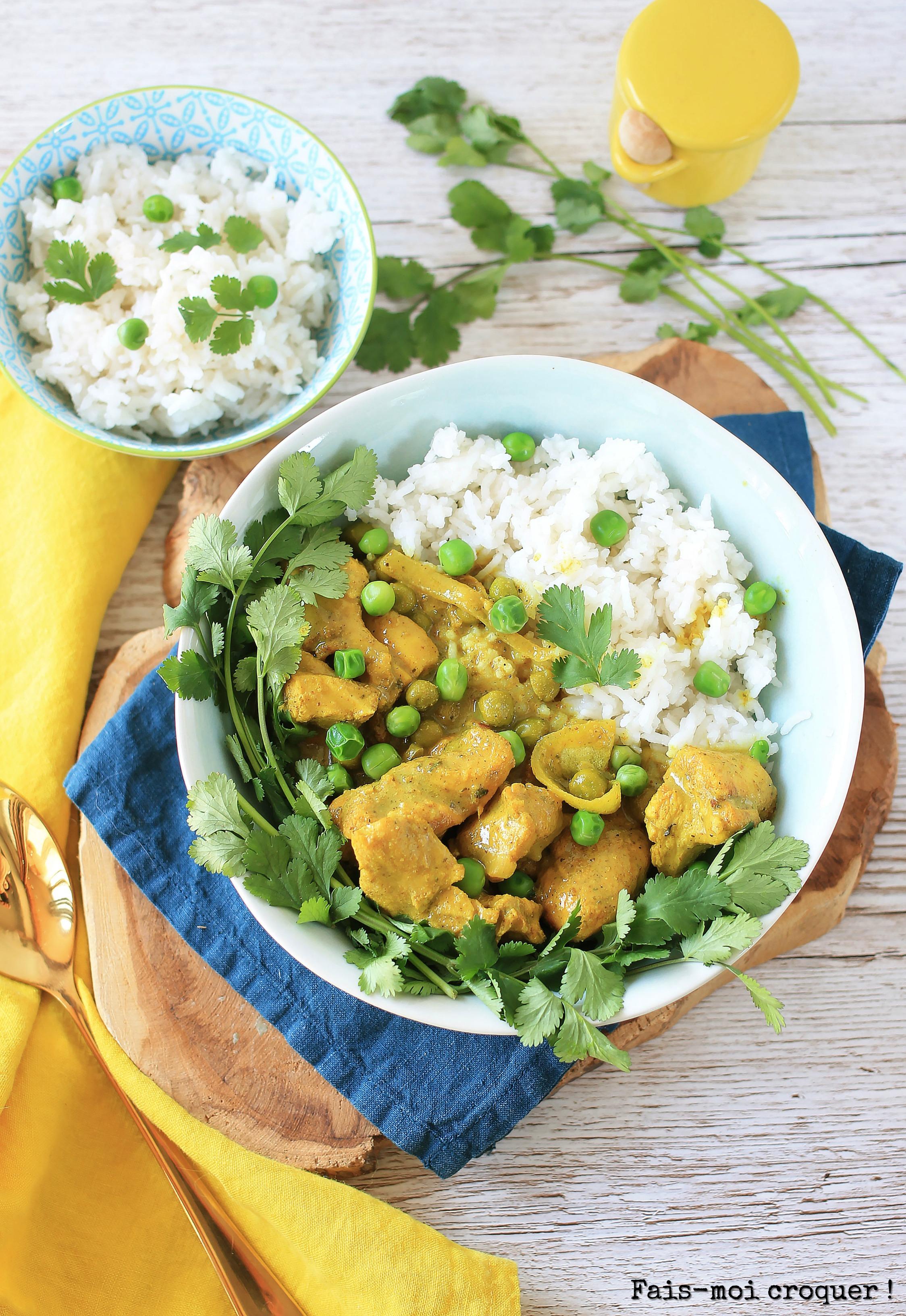 Curry de poulet coco