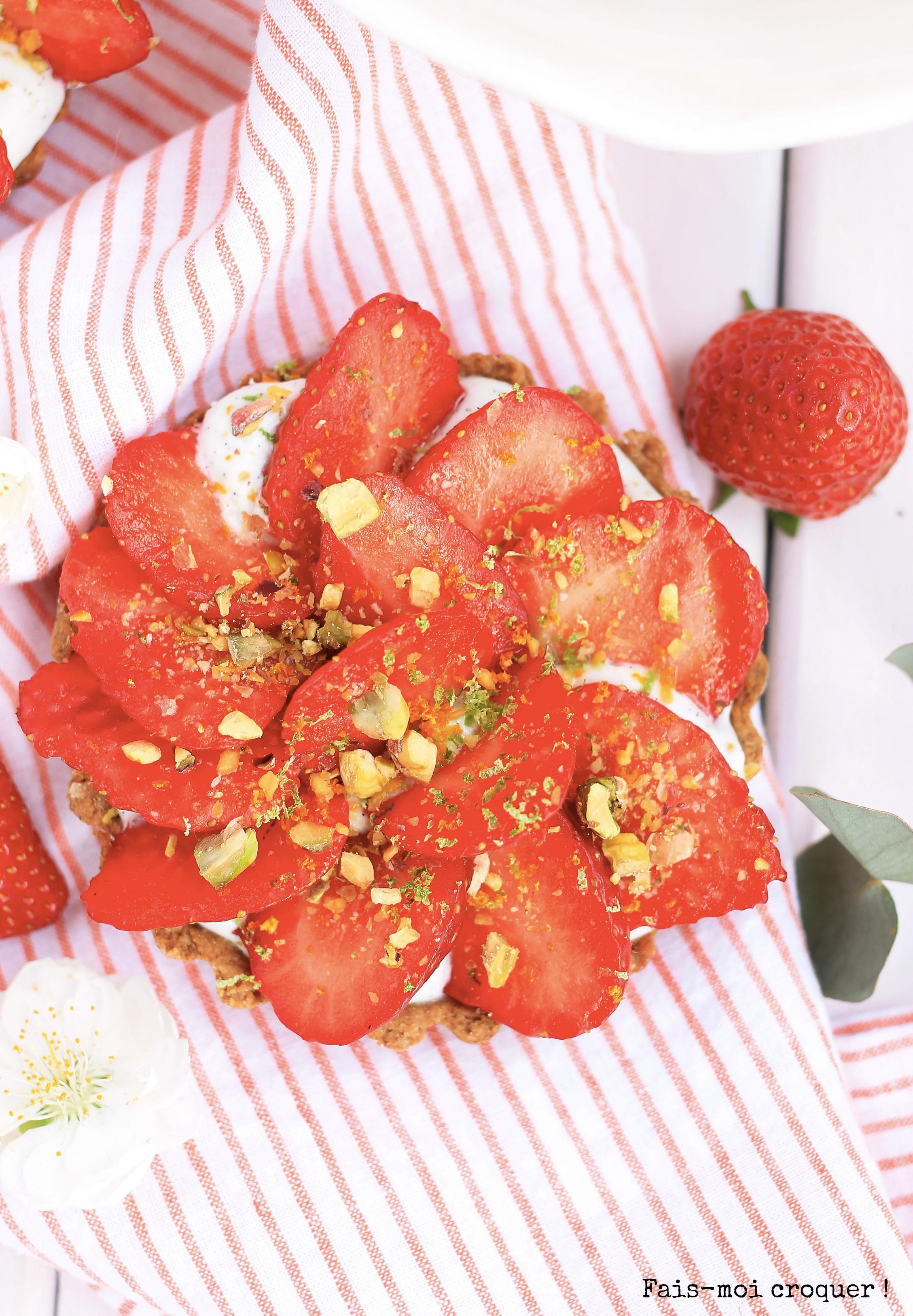 Tartelette vegan fraise