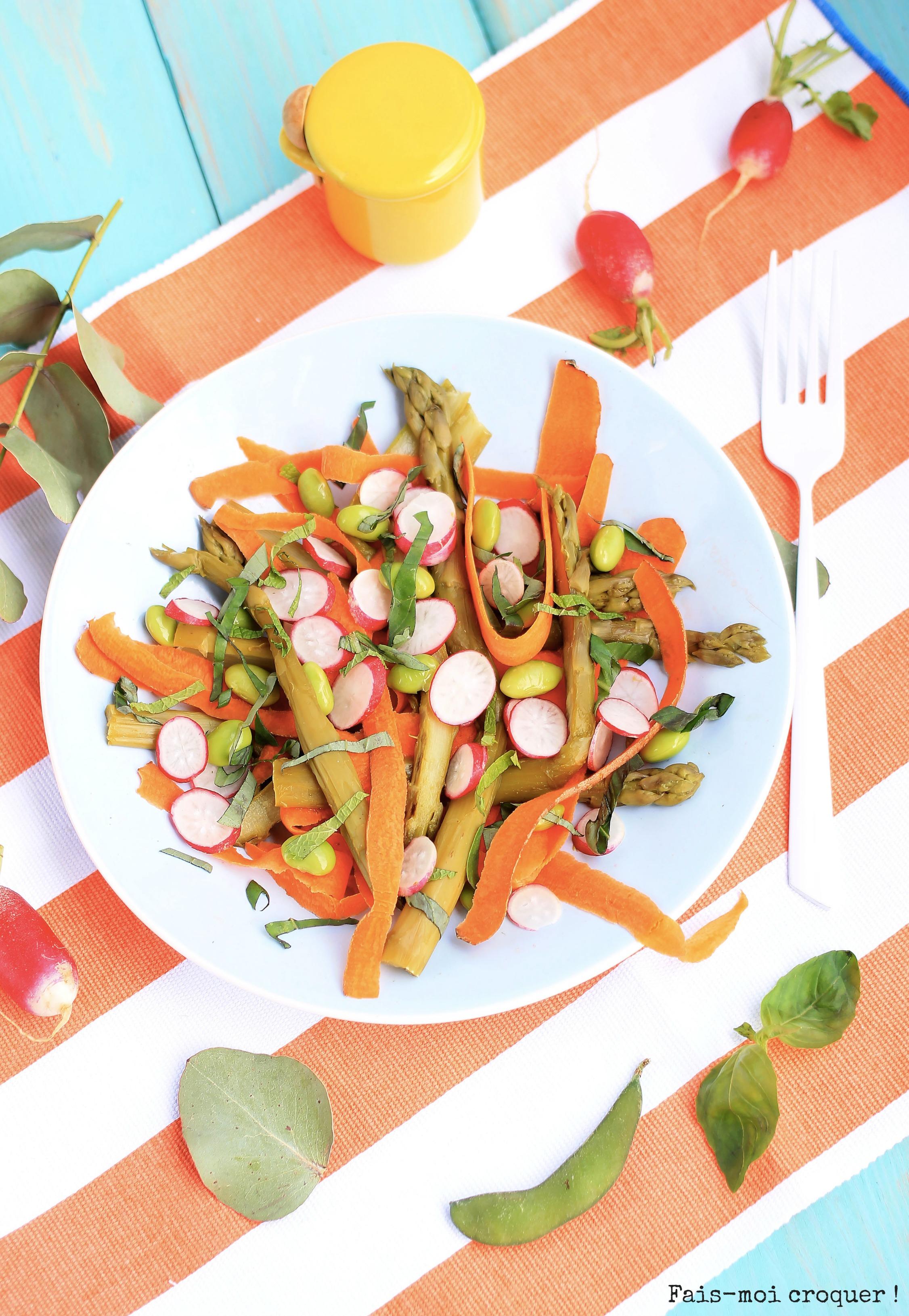 salade d'asperges radis carotte