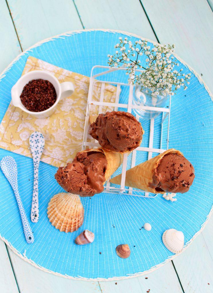 glace au chocolat vegan