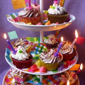 Cupcake de goûter d'anniversaire