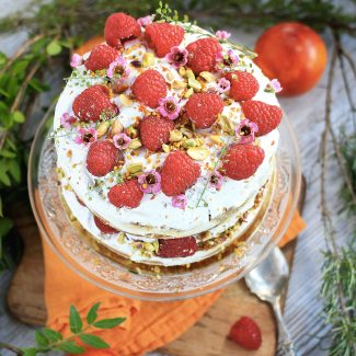 naked cake vegan orange