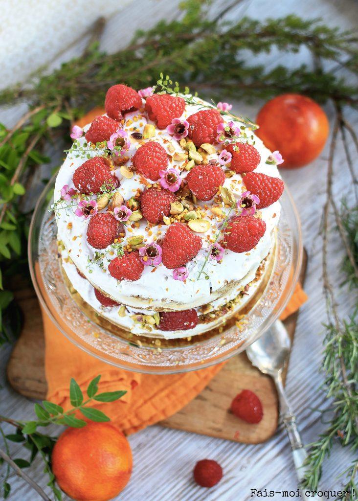 naked cake vegan orange