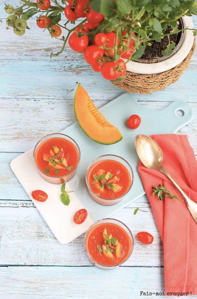 melon et tomate