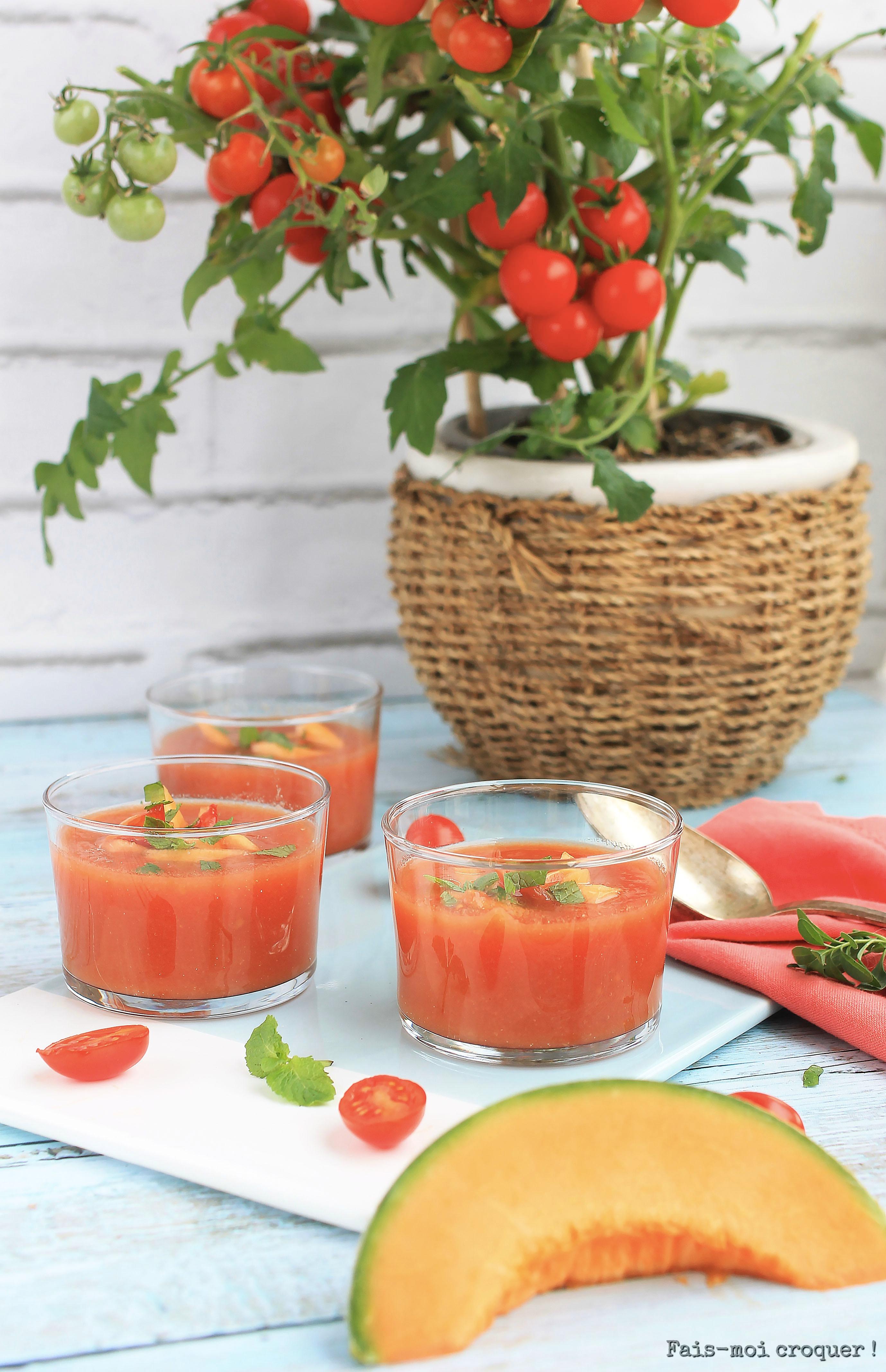 Gaspacho tomate melon