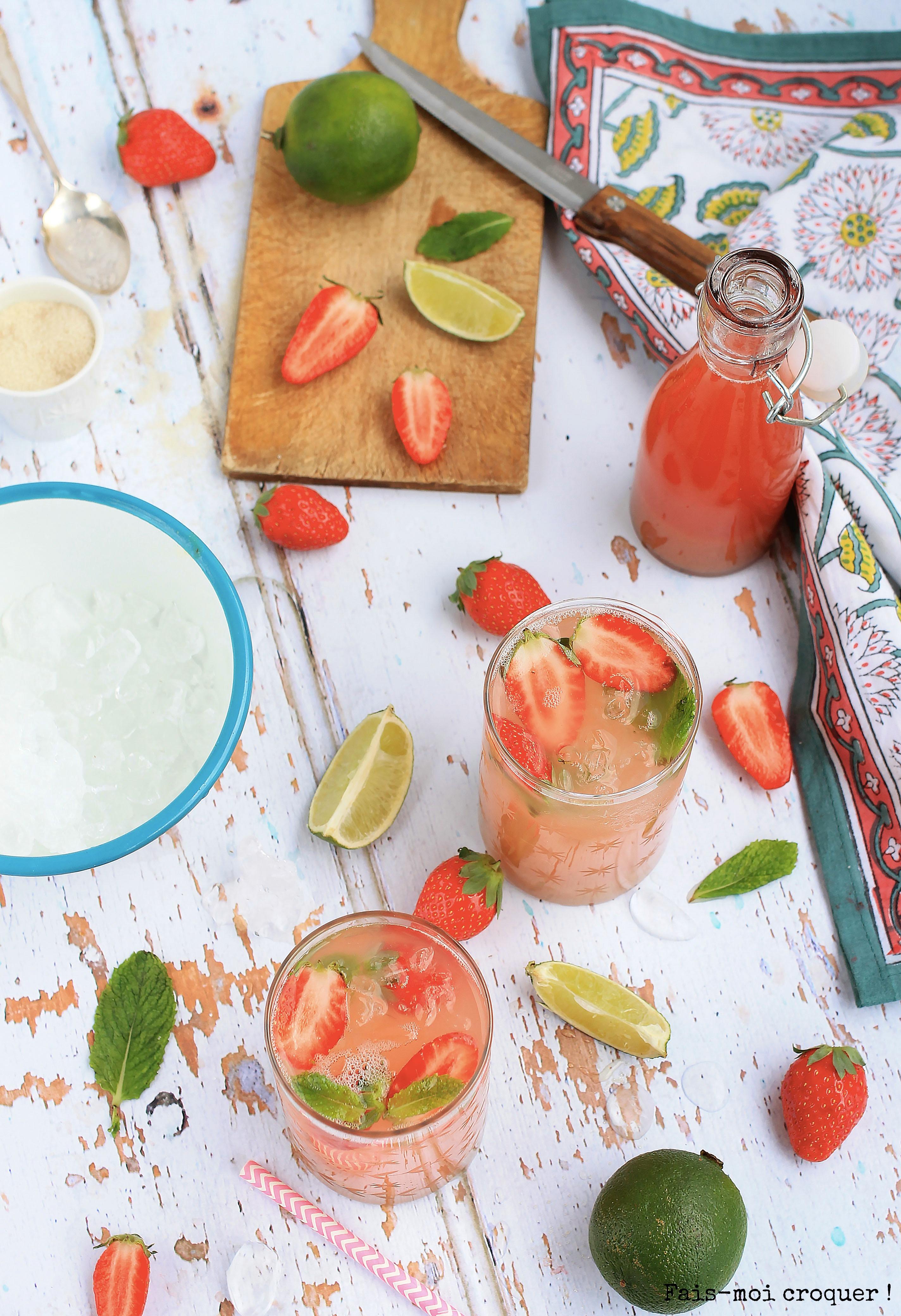 Sirop de fraise-rhubarbe