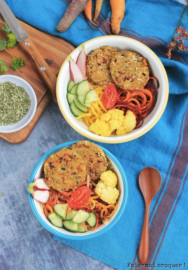 Galettes de flocons de quinoa